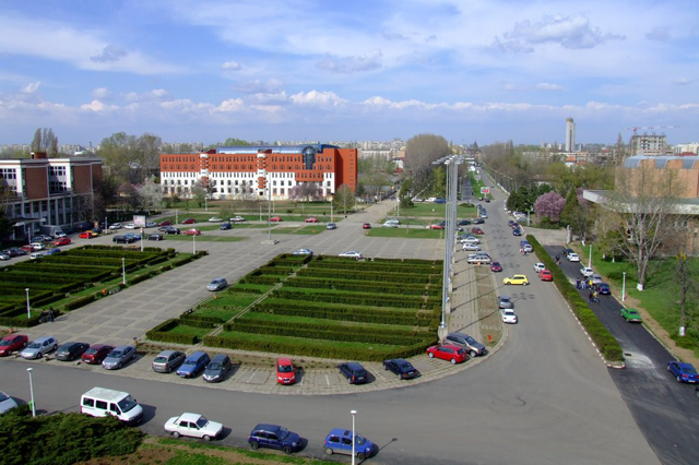Metrici covers the biggest university campus in Romania